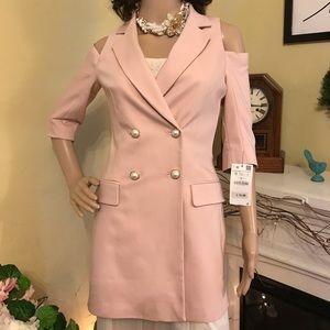 Zara Spring cold shoulder dress coat